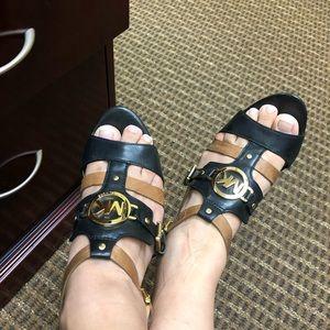 Michael Kors black and brown heels
